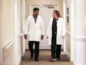 Dr. Gujjula and Kathy Hintz, PA